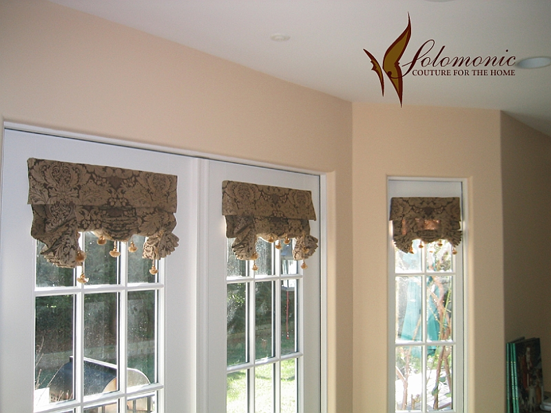 Image Result For French Door Roman Shades