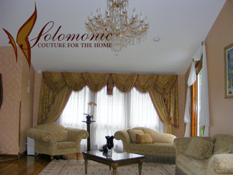 valances living room swags